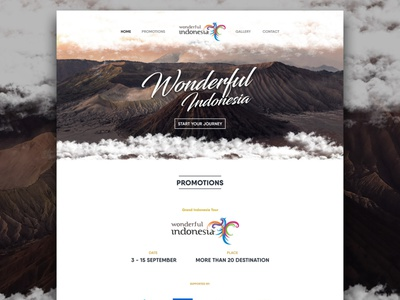 Wonderful Indonesia UI traveling app design website design web design webdesign website ui app design illustration