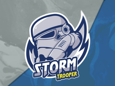 Stormtrooper Logo lllustration gaminglogo gaming sports logo sport e-sports e-sport designlogo stormtrooper starwars mascotlogo mascot logo