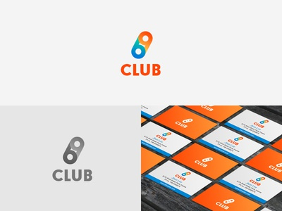 69CLUB Logo orange blue club brand icon identity logo