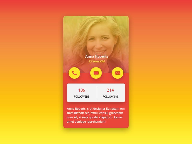 Profile Screen UI social app mobile android iphone ios screen ux ui profile