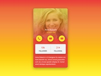 Profile Screen UI