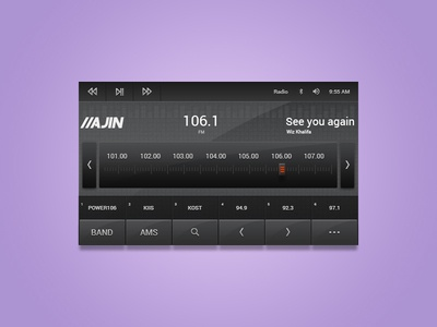 Music Application UI