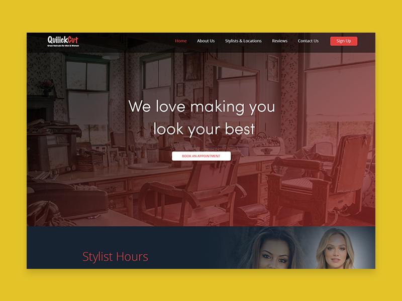 Website UI design landing page user interface site responsive graphics design ux ui web website