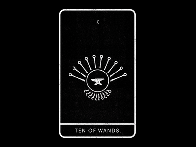 Ten of Wands.