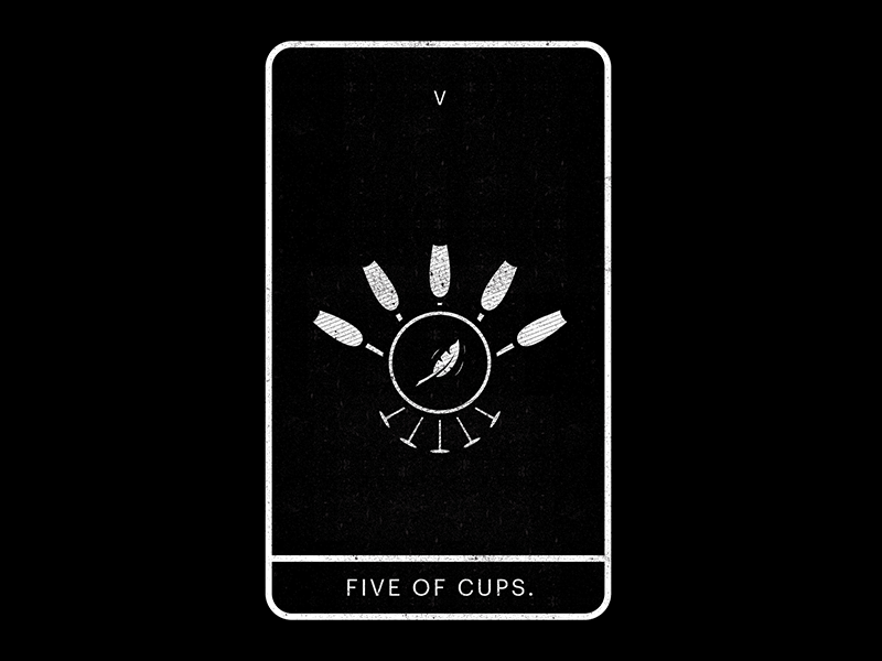 Five of cups dribbble