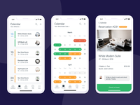 Hotel reservation manager mobile app