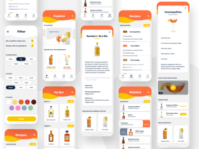 My Bar - Cocktail app - Full flow