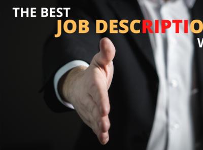The Best Job Description Writer for you branding writer best jobdescription job logo illustration design gigpromotion facebookmarketing emailmarketing digitalmarketing consultationaudienceresearch business b2b