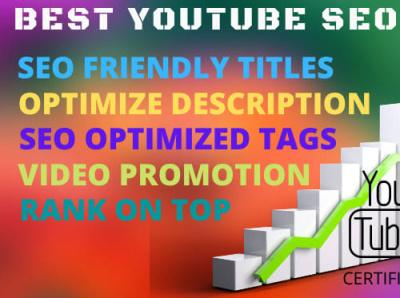 YT SEO & Promotion bobby youtubemarketing videopromotion videoseo videomarketing logo design digitalmarketing consultationaudienceresearch