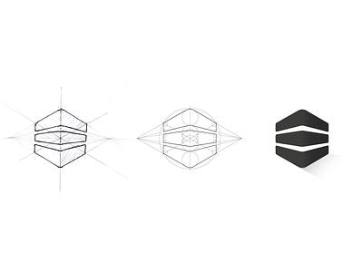 Logo process logo process evolving logo sacred geometric process logo geometric