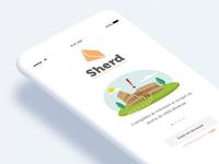 Sherd Welcome Screen