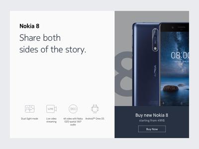 Nokia 8 Landing Page