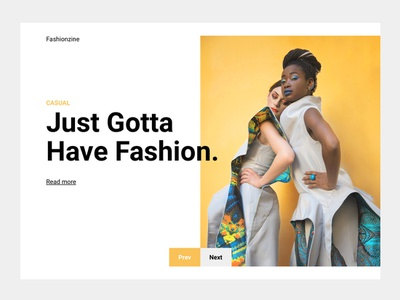 Fashion Landing fashion yellow design ui white clean web minimal