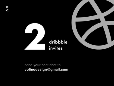 2 Dribbble invites! black white clean dribbble dribbble invites dribbble invitation dribbble best shot dribbble invite