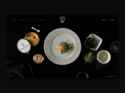 Gourmet House Caviar - Origins Animation hotspots luxury branding luxury brand interaction designer design interaction animation video digital design webdesigner websites website webdesign caviar aboutus ui ux digitaldesigner digitaldesign