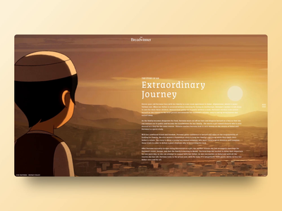 The Breadwinner - Page Transition desktop design mobile pagetransition movie digital designer ui motion graphics motion graphic design website design motiongraphics interaction animation video digital design