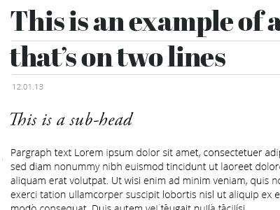 Type Expoloration typogaphy style tile heading