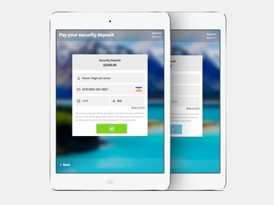 iPad app payment screen ipad ios tablet payment form payment form ux