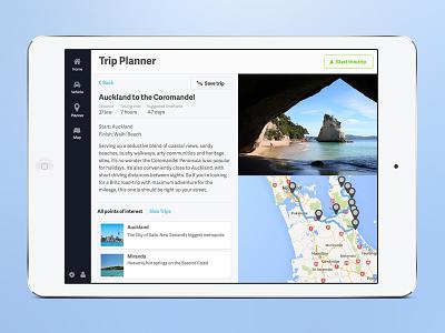 Trip Planner ipad ios tablet trip planner travel ui ux app