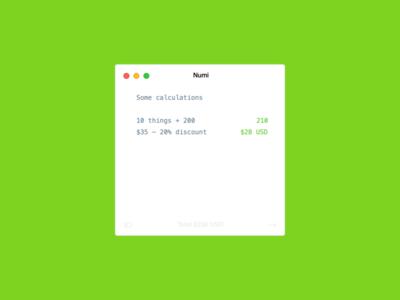 Numi app minimal mac app calculator numi