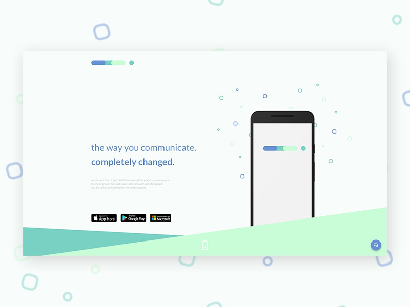 Landing Page (Daily UI #003) daily ui 003 003 dailyui challenge messenger app landing page ux ui