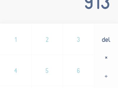 Calculator (Daily UI #004) ui ux app calculator challenge dailyui 004 daily ui 004