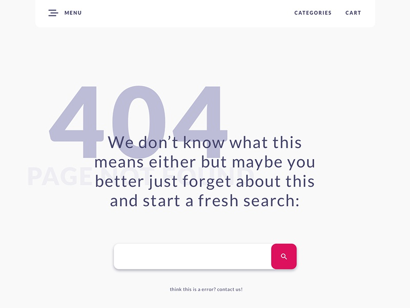 404 page (Daily UI #008) daily ui 008 008 dailyui challenge landing page error error page 404 page ux ui