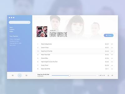 Music Player (Daily UI #009) daily ui 009 009 dailyui challenge ux ui spotify music music app music player