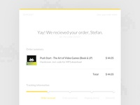 eMail Receipt (Daily UI #017)