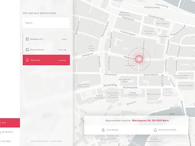 Location Tracker (Daily UI #020) daily ui 020 020 dailyui challenge ux ui location tracker gps maps location