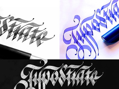 Logotype 'Typostrate'. Graphic Lettering options