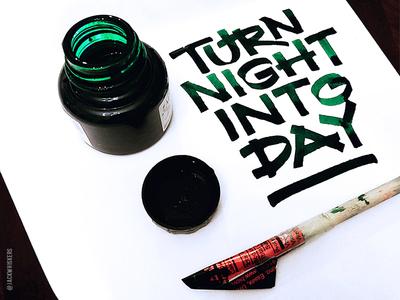 Hand Lettering | Cola pen