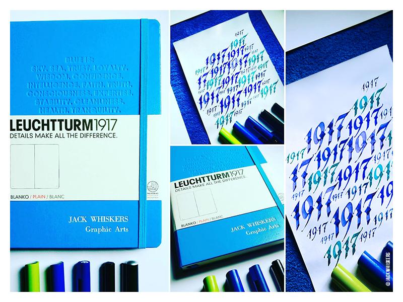 Blue. Leuchtturm1917 jack whiskers type designer graphic designer leuchtturm leuchtturm1917 custom type typography lettering calligraphy