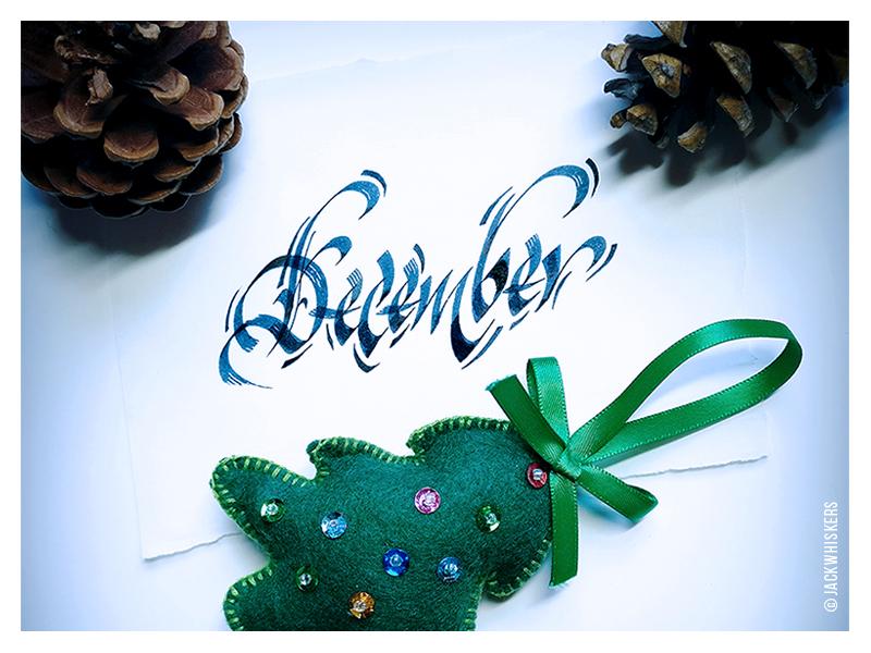 December december christmas custom type hand lettering jack whiskers word mark graphic designer typography lettering calligraphy