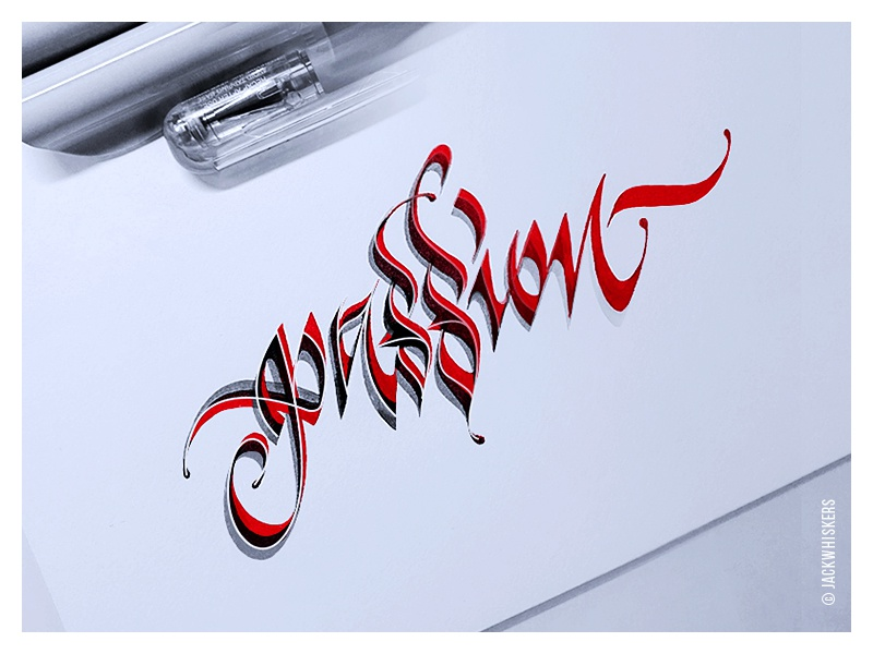 - passion - passion freestyle custom type hand lettering jack whiskers word mark graphic designer typography lettering calligraphy