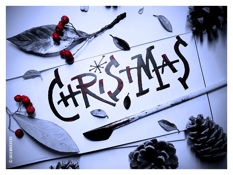 Merry Christmas everyone! cola penjack whiskers custom type freestyle art director art direction graphic designer graphic design christmas typography lettering calligraphy