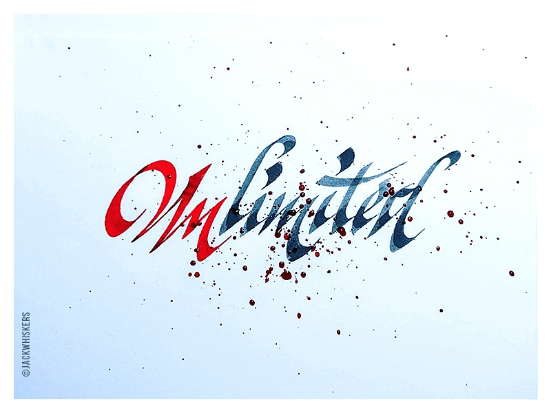 Unlimited. jack whiskers type design typographer custom type art director graphic designer art direction graphic design typography lettering calligraphy
