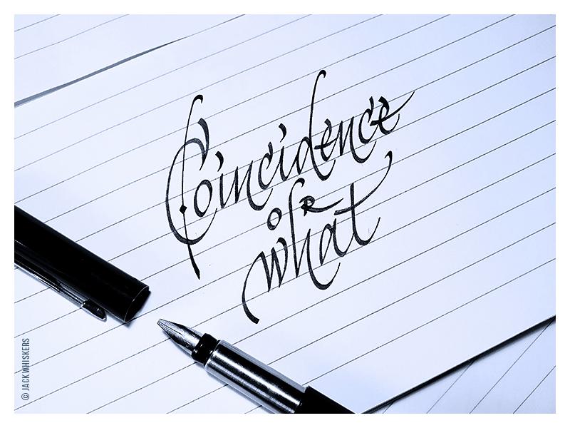 Coincidence script jack whiskers hand lettering type design art direction branding graphic design logotype custom type typography lettering calligraphy