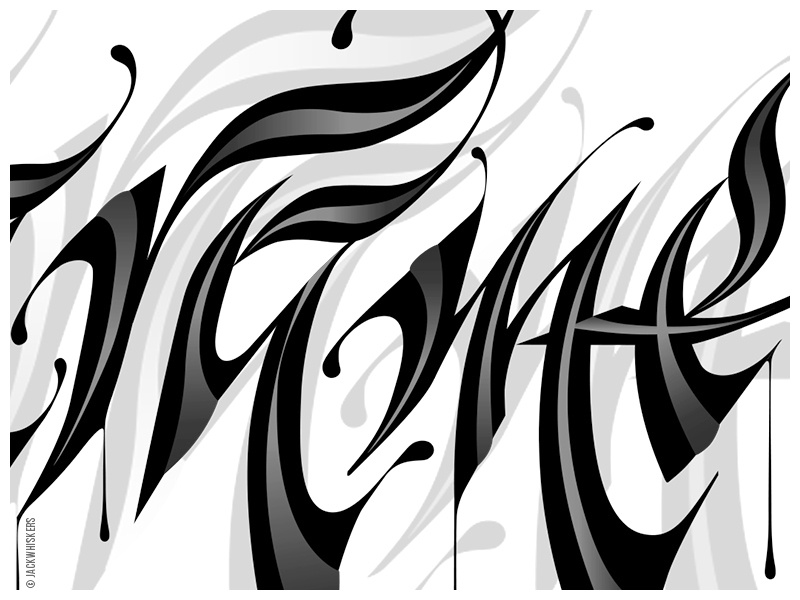 Hand-lettering to vectors. Detail type branding art direction logotype typographer word mark type art graphic design custom type jack whiskers lettering typography calligraphy