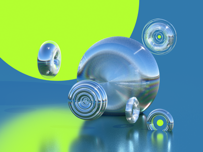 cacoon 1 ball cacoon metal illustration octane c4d