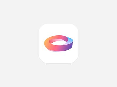 Mobius strip color2 app icon logo