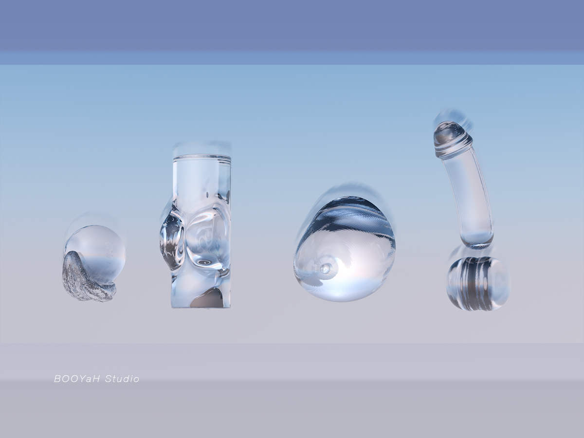 Ongoing Product Design glass modelling product design c4d