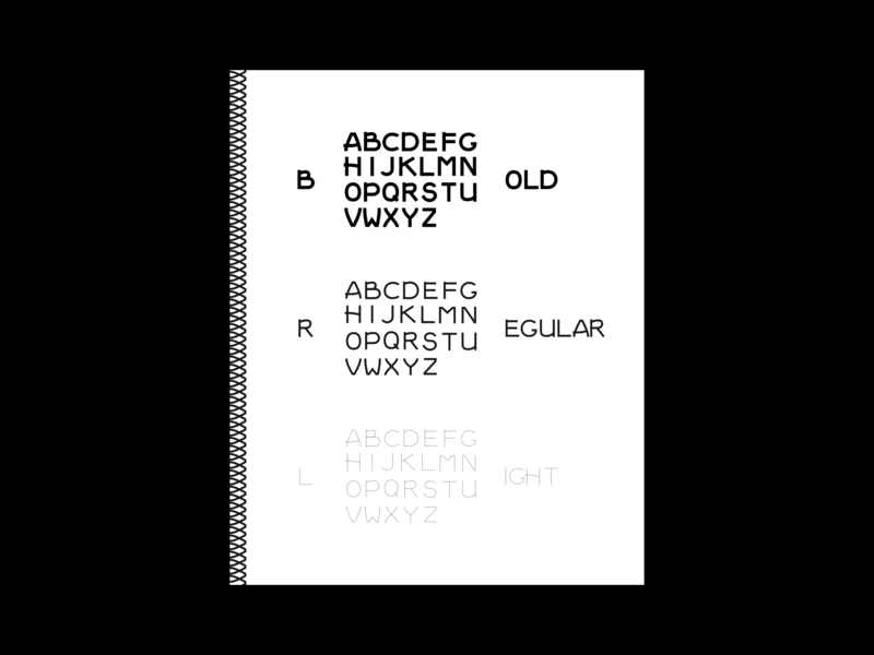 Font Book font light regular bold book print typography