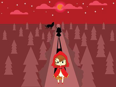 The Secret of Red Riding Hood #1 redridinghood fantasy fairytale fanart flatdesign flat vector illustration graphic design design