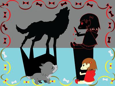 The Secret of Red Riding Hood #2 redridinghood flatdesign flat fantasy fanart fairytale vector design illustration graphic design