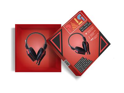 Headphone Box headphonebox headphone mockup box branding graphic design design
