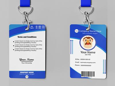 ID Card flat illustration card idcard mockup graphic design design