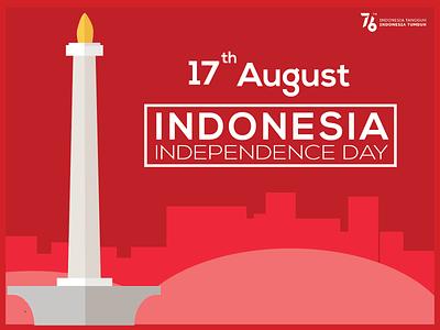 Indonesia Independence Day nationality vector poster flatdesign independenceday independence indonesia illustration flat graphic design design