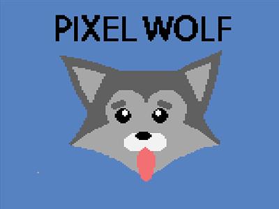 Pixel Wolf wolf pixelart art pixel illustration graphic design design