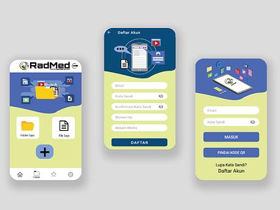 Radmed App UI ux flat illustration design graphic design mobile app user interface user experience ui appdesign